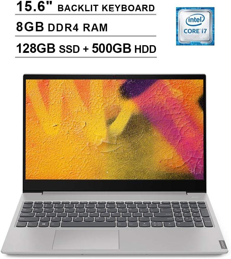 2020 Lenovo Ideapad S340 15.6 Inch FHD 1080P Touchscreen Laptop (Intel 4-Core i7-8565U up to 4.60GHz, 8GB DDR4 RAM, 128GB SSD (Boot) + 500GB HDD, NVIDIA MX230 2GB, Backlit KB, Windows 10) (Grey)