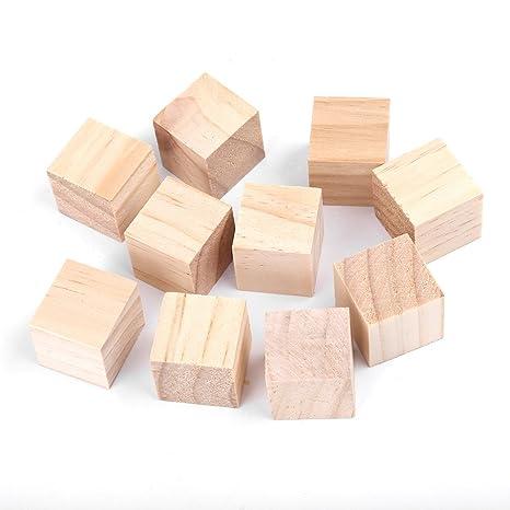 Arredamento Legno Fai Da Te.10 Pezzi Cubi Di Legno 25mm Naturale Cubi Di Legno Naturale