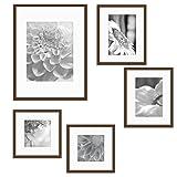 Gallery Perfect 5 Piece Walnut Wood Photo Frame