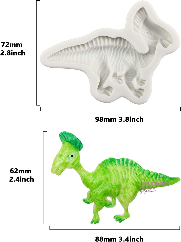 Funshowcase Dinosaur Fondant Silicone Molds 7-Count Kitchen ...