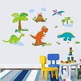 Winhappyhome Mignon Dinosaurs Cartoon Zoo Enfants Stickers Muraux Chambre Fond Salon Nursery Home Decor Amovibles Mural Stickers