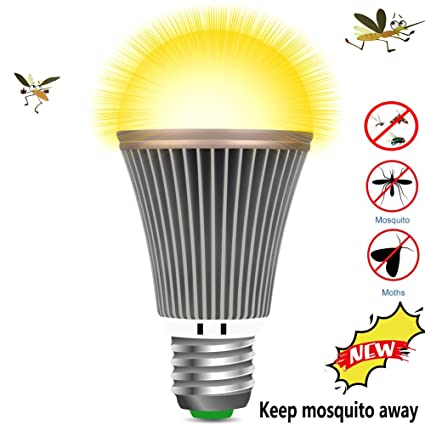 OSIDU Mosquitoes Repellent Light   LED Bug Light Bulb Outdoor Mosquitoes  Flies Bugs Repellent Porch Light