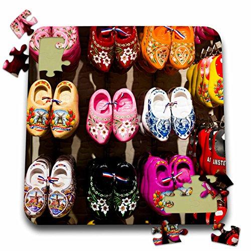 Danita Delimont - Markets - Netherlands, Amsterdam. Dutch wooden shoes - 10x10 Inch Puzzle (pzl_277784_2)