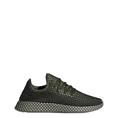 adidas Men's DEERUPT Runner Green/Green/Orange Shoes - B41771