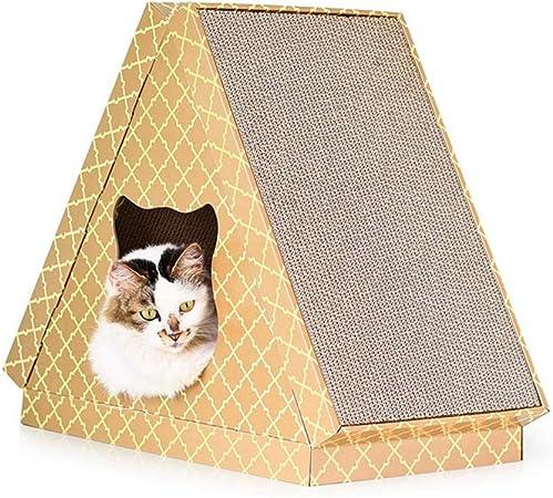 DZBMY Rascador para Gatos Rascador de Cartón Triangular Gato Plano Casa Gato Agarrar Placa De Agarre Gato Molienda Garra Triángulo Nido De Nido Caliente Fuentes De Mascotas - Regalar Menta De Gato: