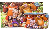 PigBangbang Deluxe Wooden 60 Piece Jigsaw Puzzle With Iron Box 8.95.5''Buy 1 Get 1 Free Anime Family Portraits