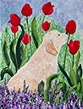 Caroline's Treasures SS8610CHF Golden Retriever Flag Canvas, Large, Multicolor For Sale