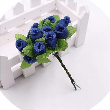 Flowers Artificial 12pcs 2cm Handmade Mini Silk Wedding Decoration DIY Clip Art