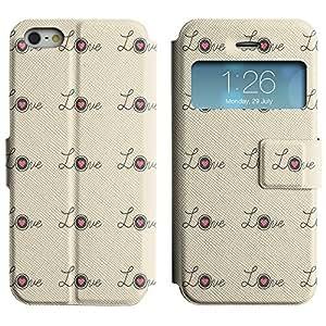 LEOCASE Amor Rosa Funda Carcasa Cuero Tapa Case Para Apple iPhone 5 / 5S No.1000514