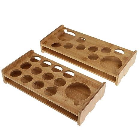 Soporte para Vasos De Chupito De Bambú Estante para Tazas De ...