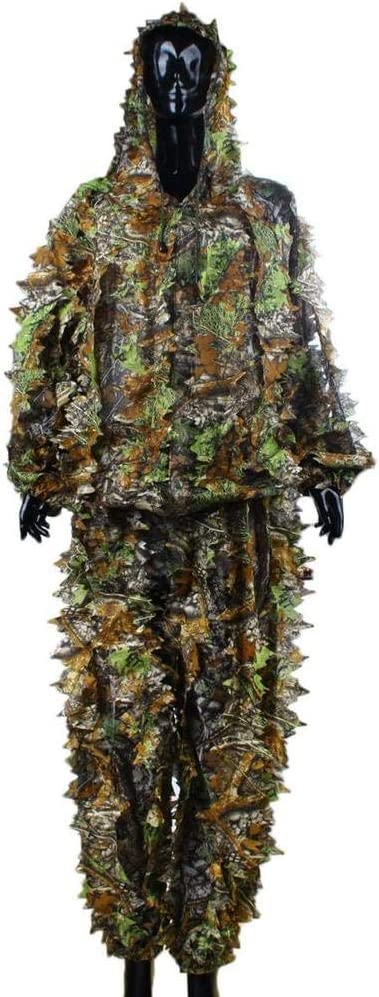 Tuta Ghillie 3D per adulti Woodland Camo//Camouflage Hinleise Ghillie Suit