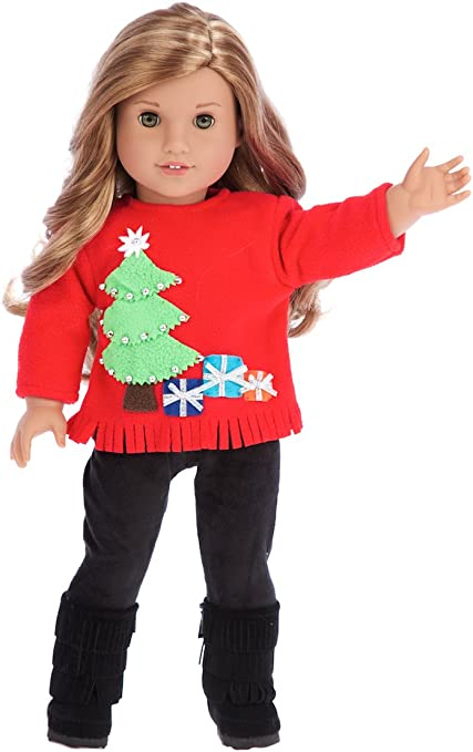 Handmade Sweater fits Barbie and other similar dolls Pink  great ornament too
