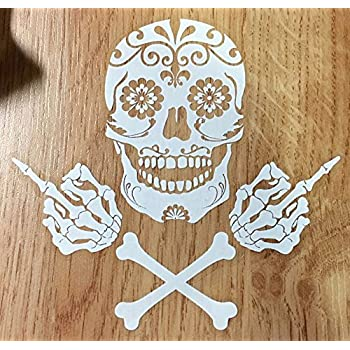 Amazon Com Osmdecals Mexican Sugar Skull And Crossbones