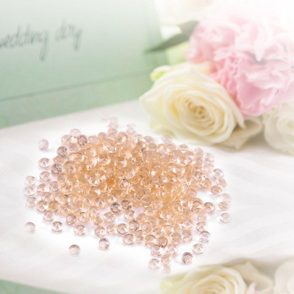1000/Perline di Diamante acrilico 3/mm per porte-bursh Vaso perline decorazioni Couleur Nude Vaso Filler per Tavolo Centro di tavolo Doccia nuptiale matrimonio