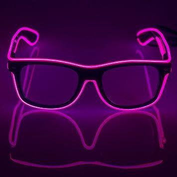 Amazon.com: Fronnor Light Up El Wire Glasses Rave Glow Glasses ...
