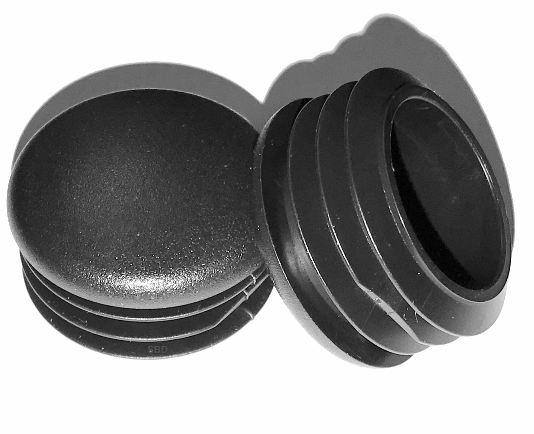 by SBD 1.375 Inch Head Dia Fencing Post Inserts SB Distribution Ltd. Fitness Eqpt End Caps Pack of 4 - Hole Size 14-20 Ga - 1.21 to 1.33 ID 1-3//8 OD Round Plastic Plugs Furniture Finishing caps