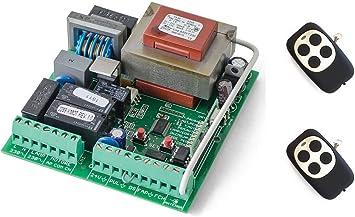 Kit Central de maniobras universal cuadro de control para motores monofasicos a 220v hasta 1000w de puerta corredera de garaje y parking, con 2 mandos a distancia.: Amazon.es: Bricolaje y herramientas