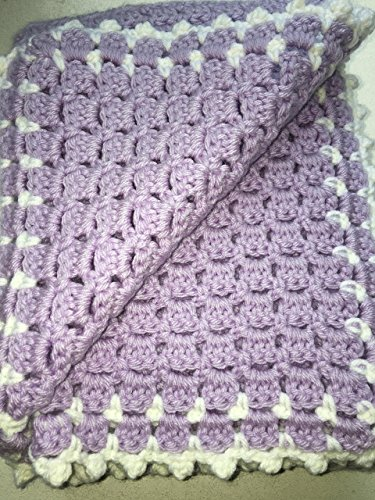 Amazon New Hand Crocheted Baby Blanket 33 X 33 Lavender