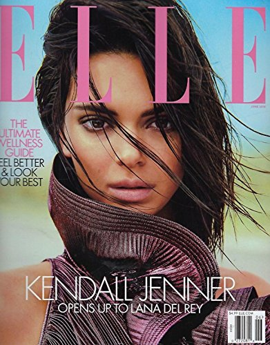 Del Rey Cover - Elle Magazine (June, 2018) Kendall Jenner Opens Up To Lana Del Rey Cover