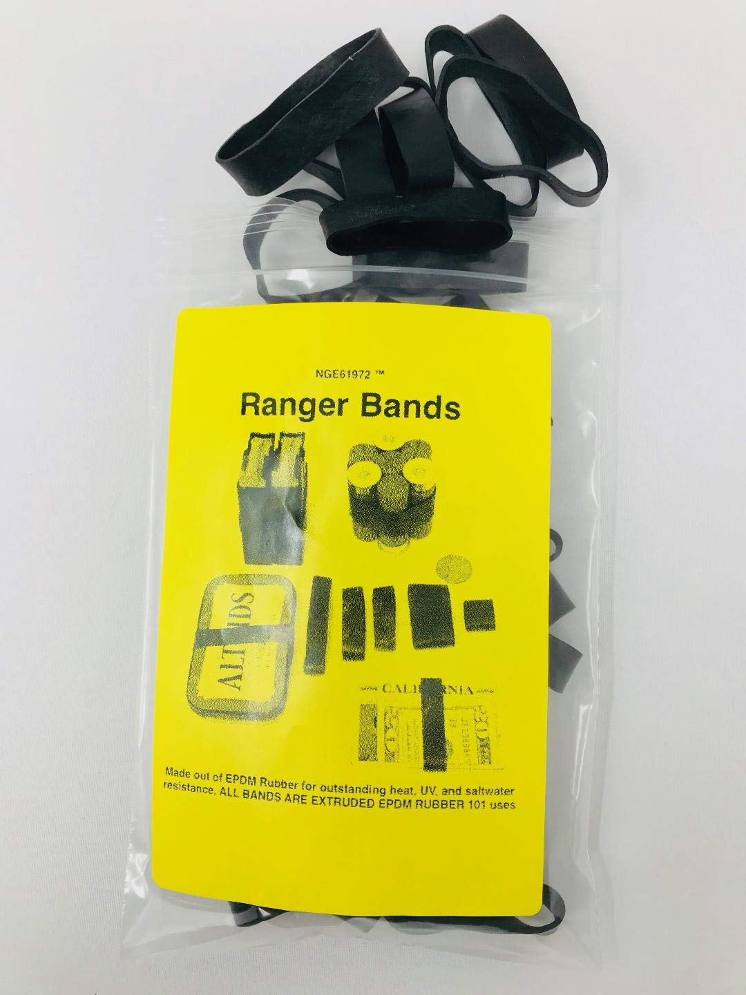 NG-E6-1972 ™ Ranger Bands 24 Mixed Made From EPDM Rubber: for Survival and Strapping Gear and 1 Paracord Bracelet with Whistle. Ranger Bands are Made in the USA