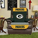 Pegasus Home Fashions NFL Green Bay Packers Recliner Reversible Furniture Protector with Elastic Straps, 80-inches by 65-inches