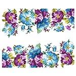 SODIAL(R) Beautiful Flowers Nail Art...