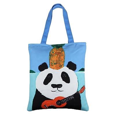 962578a686d0 LucyGod Women Big Canvas Tote Shoulder Handbag Zipper Top Handle ...