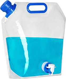 UYGHHK Collapsible Water Container, BPA Free Food Grade Clear Plastic Water Jug with Spout for Sport Camping Riding Hiking, Foldable Emergency Water Bottle