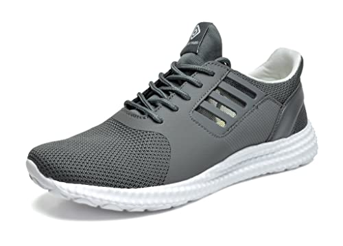 DREAM PAIRS Men's 160821-M Dk.Grey White Athletic Running Shoes Sneakers -  6.5