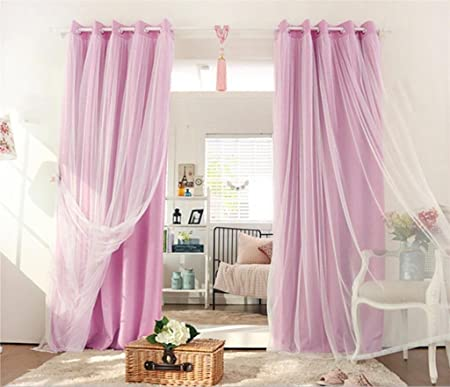 GFYWZ Curtains Window screening Polyester Lace Modern minimalist ...