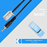 AUX Input Audio Cable Adapter Compatible with
