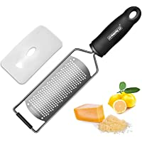 Raniaco Lemon Zester & Citrus Grater - Stainless Steel Grater, Flat Kitchen Graters for Cheese, Lemon, Garlic, Chocolate…