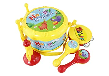 Musical Toys For Toddlers : Amazon.com: lightahead 4 in 1 musical instrument set drum set music