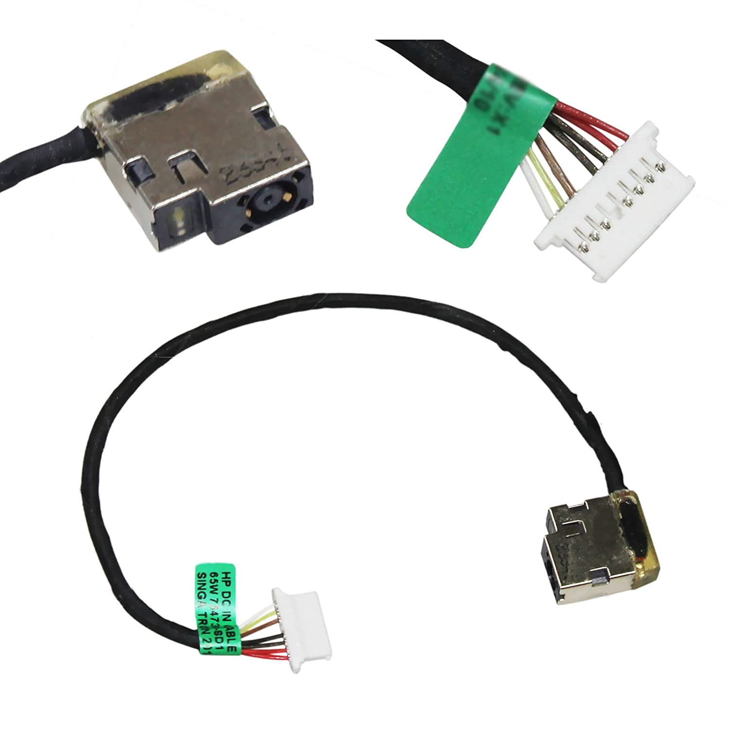 DC Power Jack Cable Harness Replacement for HP 15-AF 15-AF131DX 799736-T57 Series