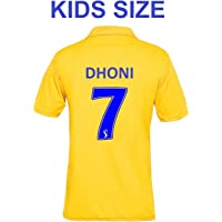 CHENNAI Super Kings IPL Cricket Jersey 2019 with DHONI 7 Print Kids Size Jersey