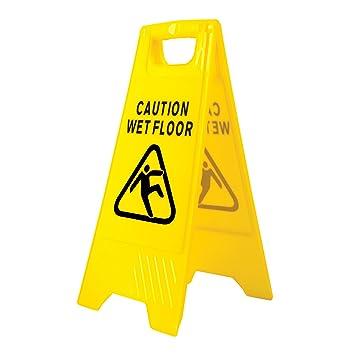 Portwest - Hv20yer señalización en el suelo mojado, amarillo