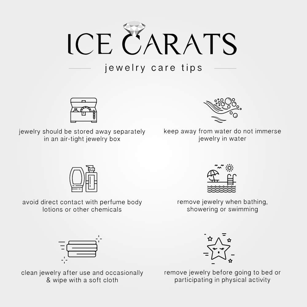 IceCarats 925 Sterling Silver 14k Sky Blue Topaz Diamond Cuff Bracelet Gemstone Bangle Hinged by ICE CARATS (Image #6)