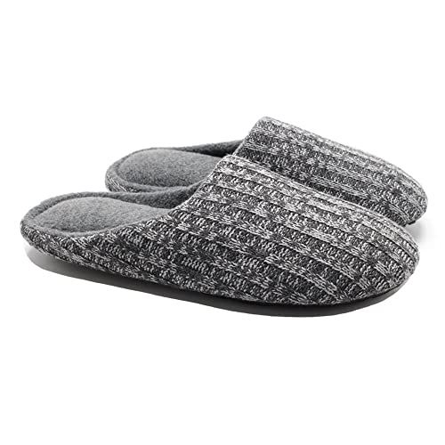 cf66f9bb4b209 Ofoot Women's Indoor Slippers,Cashmere Knit Warm Fleece Lined Thick Padded  Memory Foam Anti-