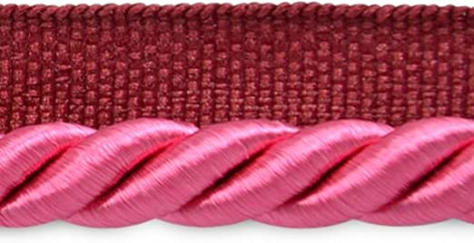 Expo International 20-Yard Emmerson Twisted Lip Cord Trim Embellishment 1//4-Inch Fuchsia