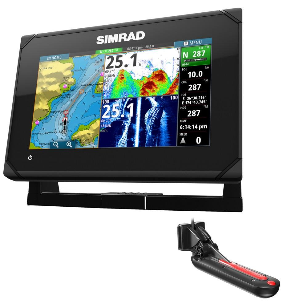 Simrad GO7 XSE Chartplotter/Fishfinder w/TotalScan Transom Mount Transducer  by Simrad