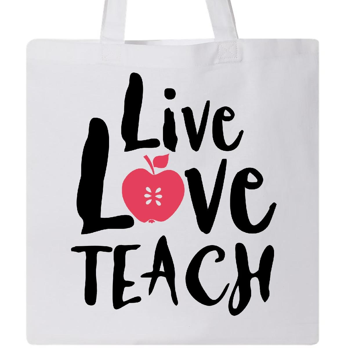 Inktastic Live Love Teach Tote Bag White