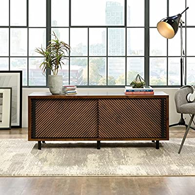 Sauder Harvey Park 54 in. Entertainment Credenza - Dimensions: 54.02W x 17.32D x 21.26H in. Constructed from durable wood Grand walnut finish - tv-stands, living-room-furniture, living-room - 61DW5llkyPL. SS400  -