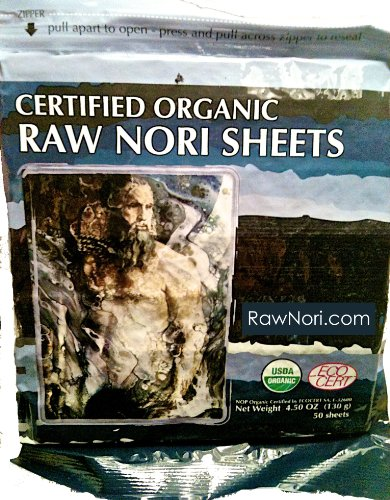 Raw Methodical Nori Sheets 50 qty Pack! - Certified Vegan, Raw, Kosher Sushi Wrap Papers - Premium Unheated, Un Cooked, untoasted, dried - RAWFOOD