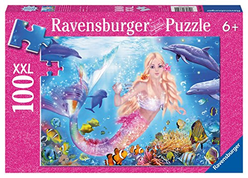 Ravensburger Dolphin - Ravensburger Mermaid and Dolphins Glitter Puzzle (100 Piece)