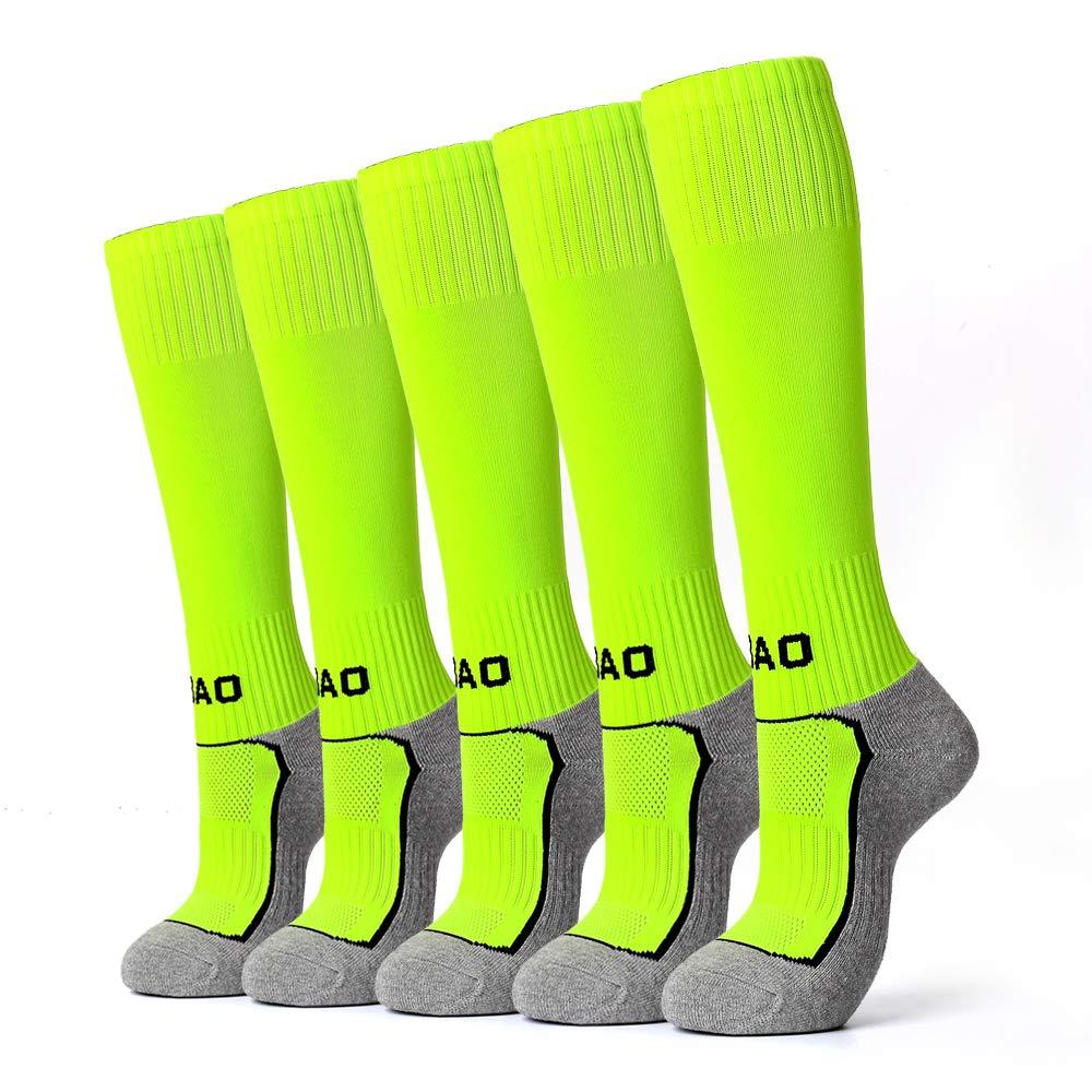 5 Pairs Kids Soccer Socks Boys Girls High Tube Long Knee Athletic Football Socks (4-15 Years Little Kid/Big Kid) ... by AII
