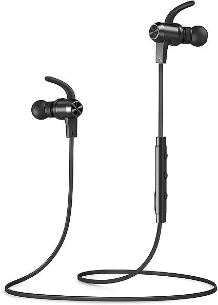 Amazon Com Bluetooth Headphones Vava Moov 28 Wireless Headphones Sports Earphones In Ear Earbuds With 9 Hours Playtime Ipx6 Splashproof Aptx Stereo Magnetic Aluminum Design Cvc 6 0 Noise Cancelling Mic