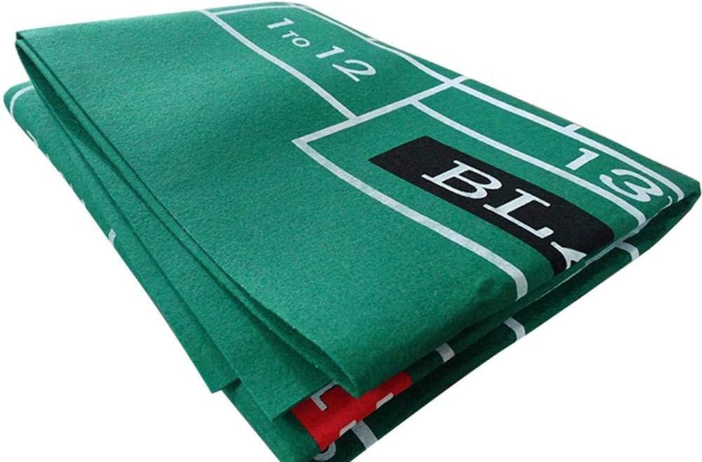 wasserdichtes Tischset aus Vliestuch Blackjack Roulette-Tischdecke GoldCister Casino Tabletop Layoutmatte aus Filz Spieltischfilz doppelseitiges Muster