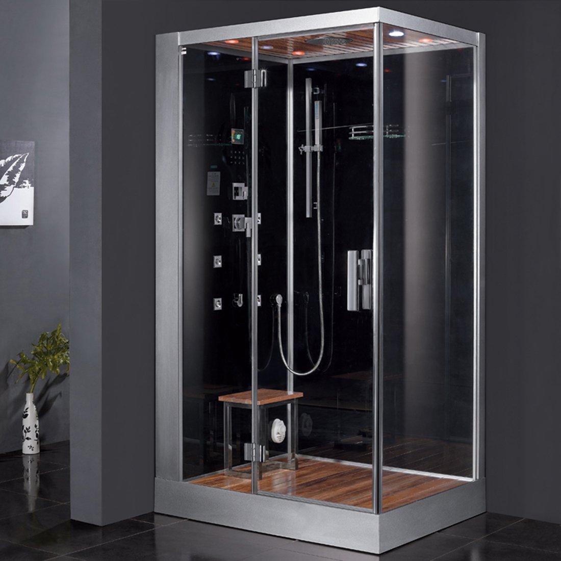 Ariel Platinum DZ959F8-BLK-L Steam Shower, Left Configuration, 47 ...