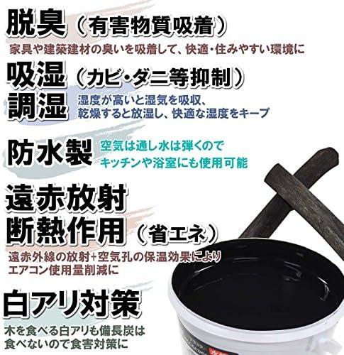 [スポンサー プロダクト]わたしの炭家 チャコールペイント 吸放湿性備長炭塗料[水性] ブラック 住宅用 1㎏ CPA-010