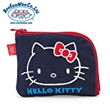 Sanrio Hello Kitty × BOOFOOWOO coin purse Navy From Japan New